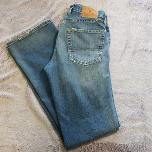 Lucky Brand Dungarees distressed size 31